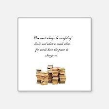 Books change us Sticker