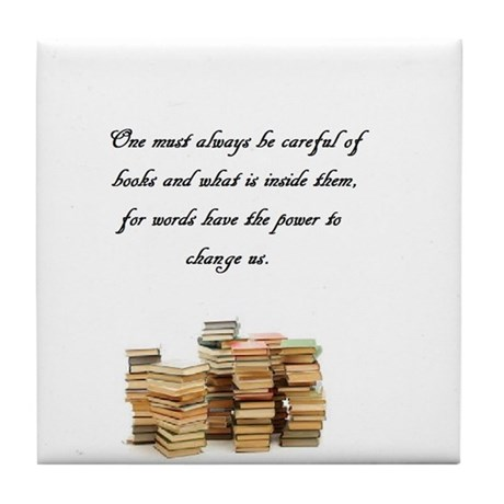 Books change us Tile Coaster