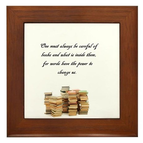 Books change us Framed Tile