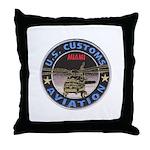 Miami Customs Throw Pillow
