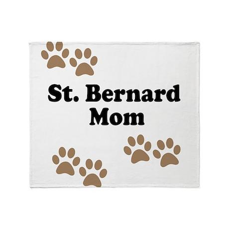 St. Bernard Mom Throw Blanket