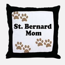 St. Bernard Mom Throw Pillow