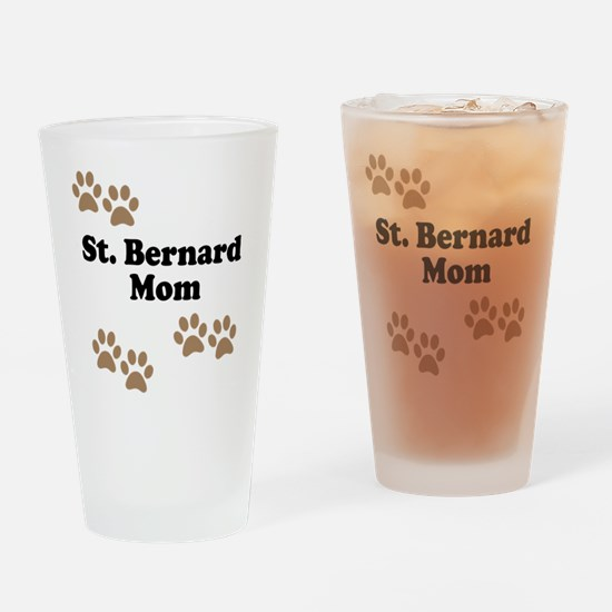 St. Bernard Mom Drinking Glass