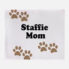 Staffie Mom Throw Blanket