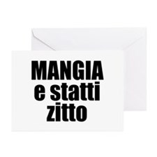 Mangia e Statti Zitto Greeting Cards (Pk of 10)