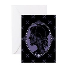 Gothic Skull Cameo Greeting Card