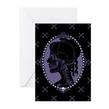Gothic Skull Cameo Greeting Cards (Pk of 10)