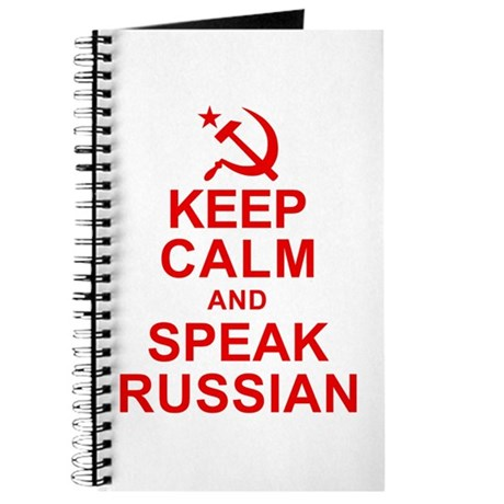 Keep Calm and Speak Russian Journal