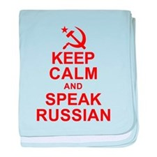 Keep Calm and Speak Russian baby blanket