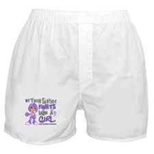 Fights Like a Girl 42.9 H Lymphoma Boxer Shorts
