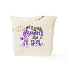 Fights Like a Girl 42.9 H Lymphoma Tote Bag