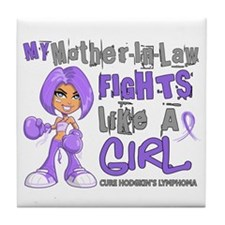 Fights Like a Girl 42.9 H Lymphoma Tile Coaster
