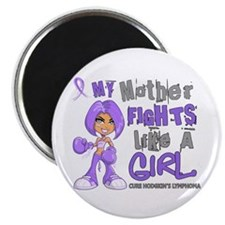 Fights Like a Girl 42.9 H Lymphoma Magnet