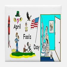April Fools Day Parade Tile Coaster