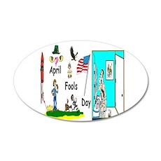 April Fools Day Parade 22x14 Oval Wall Peel