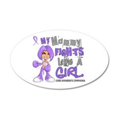 Fights Like a Girl 42.9 H Lymphoma Wall Decal