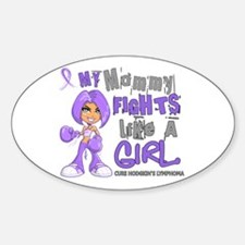 Fights Like a Girl 42.9 H Lymphoma Decal