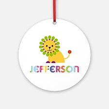 Jefferson Loves Lions Ornament (Round)
