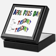April Fools Day Pregnant Keepsake Box