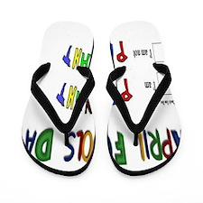 April Fools Day Pregnant Flip Flops