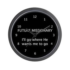 Future Missionary Wall Clock