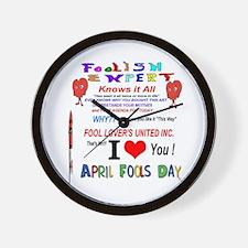 April Fools Foolish Expert Wall Clock