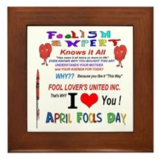 April Fools Foolish Expert Framed Tile