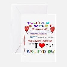 April Fools Foolish Expert Greeting Cards (Pk of 1