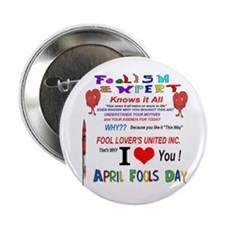 "April Fools Foolish Expert 2.25"" Button"