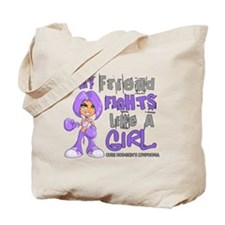 Fights Like a Girl 42.9 H Lymphoma Tote Bag