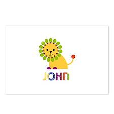 John Loves Lions Postcards (Package of 8)