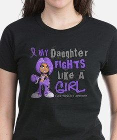 Licensed Fights Like a Girl 4 Tee