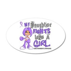 Licensed Fights Like a Girl Wall Decal