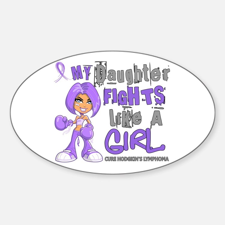 Licensed Fights Like a Girl 42.9 H Decal