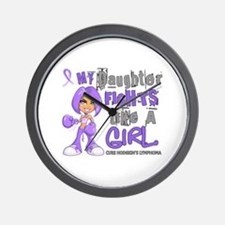 Licensed Fights Like a Girl 42.9 H Lymp Wall Clock