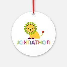 Johnathon Loves Lions Ornament (Round)