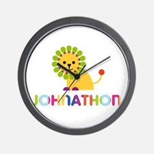 Johnathon Loves Lions Wall Clock