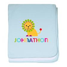 Johnathon Loves Lions baby blanket