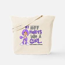 Licensed Fights Like a Girl 42.9 H Lympho Tote Bag
