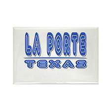 La Porte--groovy '70's Rectangle Magnet (100 pack)