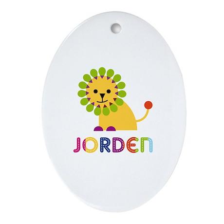 Jorden Loves Lions Ornament (Oval)