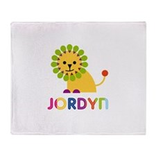 Jordyn Loves Lions Throw Blanket