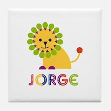 Jorge Loves Lions Tile Coaster