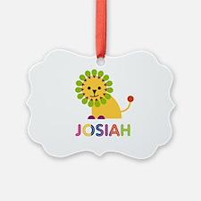 Josiah Loves Lions Ornament