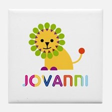 Jovanni Loves Lions Tile Coaster