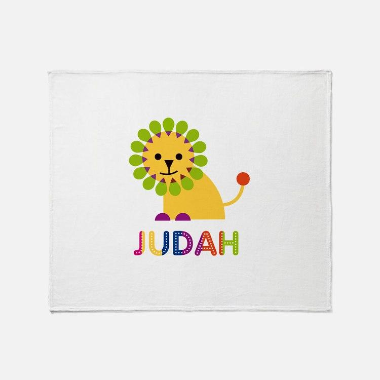 Judah Loves Lions Throw Blanket