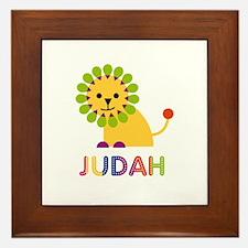 Judah Loves Lions Framed Tile
