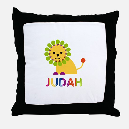 Judah Loves Lions Throw Pillow