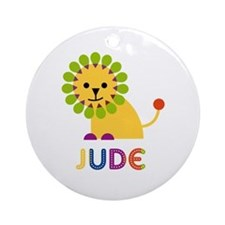 Jude Loves Lions Ornament (Round)