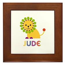 Jude Loves Lions Framed Tile
